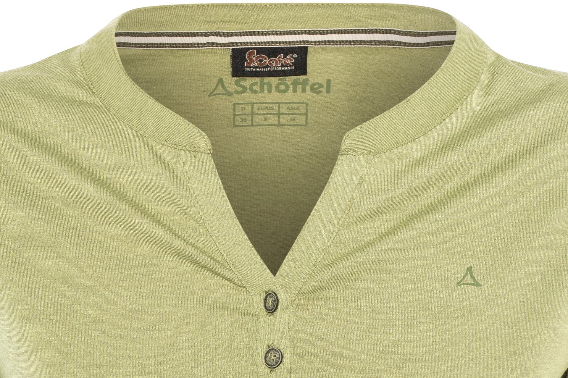 Shirt Schöffel Manches Johannesburg Longues T FemmeMosstone O8n0PwkX
